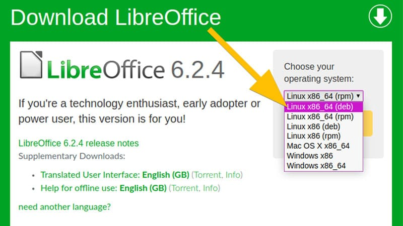 libreoffice-download-on-linux