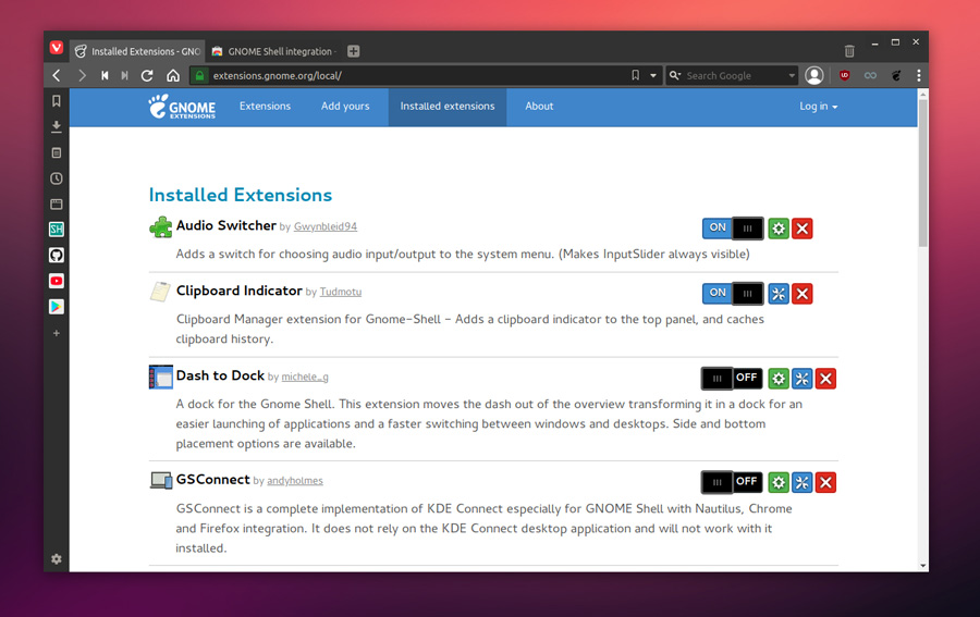 How to install extensions in Gnome | 2019 - LinuxH2O