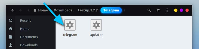 Telegram downloaded files for Linux
