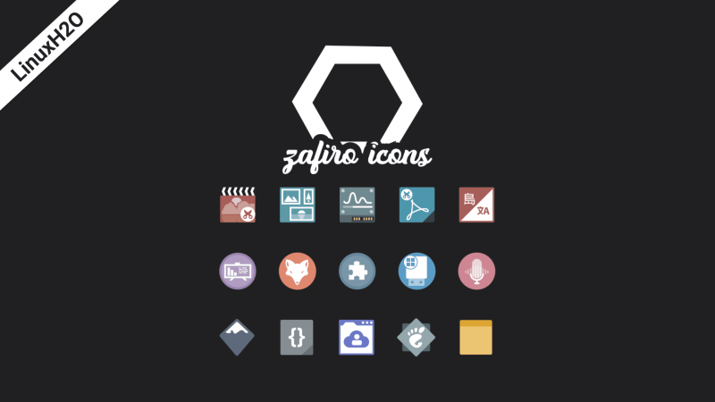 Zafiro icon pack theme for Linux