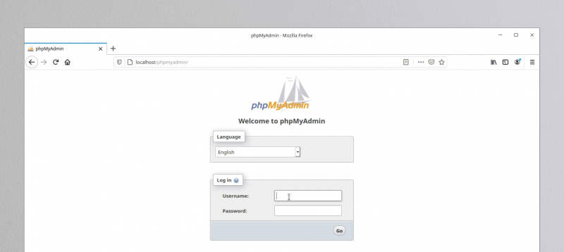 PhpMyAdmin up and running on Linux