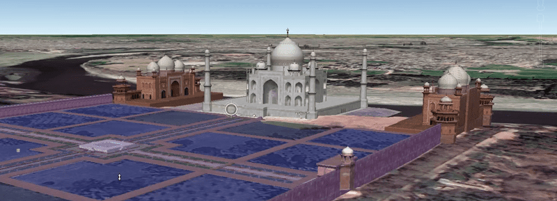 3d representation of Taj mahal on Google earth.png