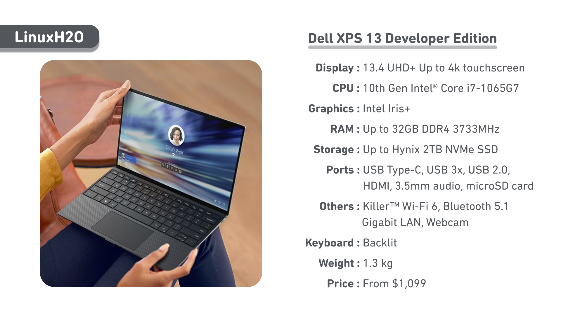 Dell XPS 13 Developer Edition - A linux based laptop specifically build for development