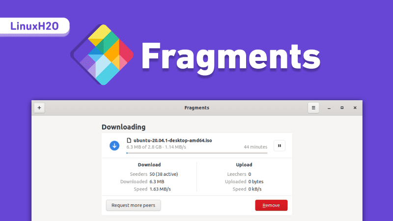 Fragments a modern BitTorrent client for Linux