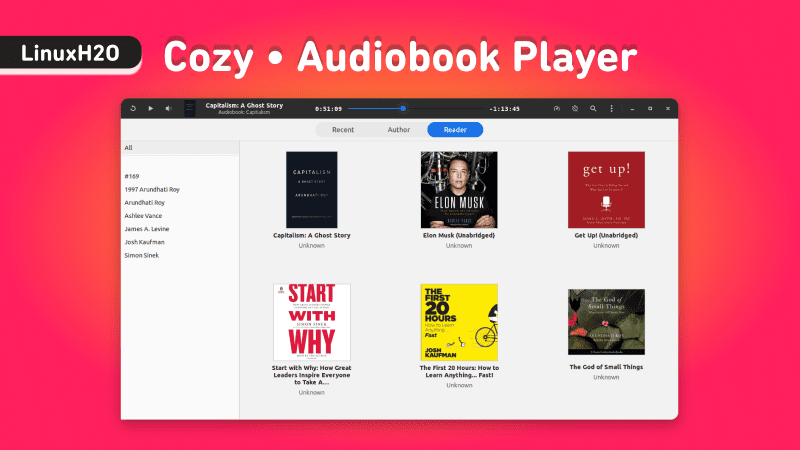 Cozy - Best audiobook player for Linux