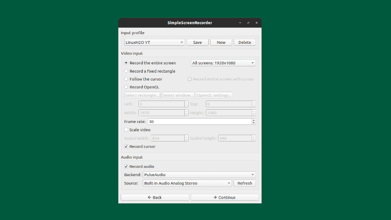 Simple Screen Recorder Application For Linux